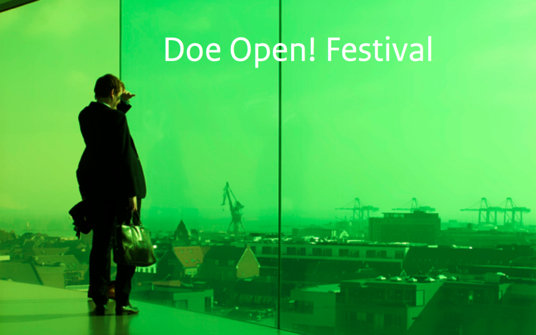 Young Innovators lezing over uitgangspunten op Doe Open Festival.